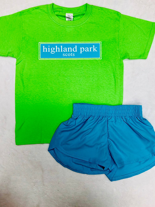 Highland Park Green Prep Design Tee