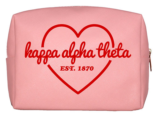 Kappa Alpha Theta Sweetheart Makeup Bag