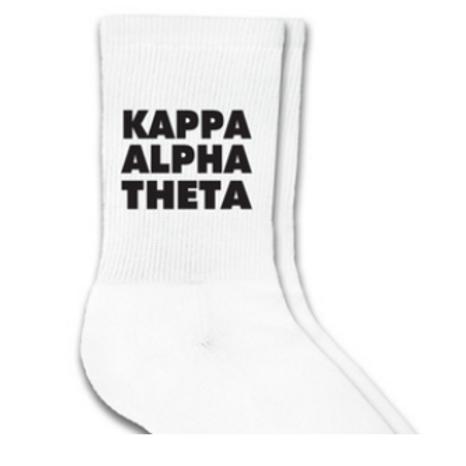Kappa Alpha Theta Sorority Crew Socks