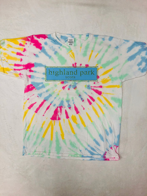 Highland Park Tie Dye Prep Design In Blue and Green