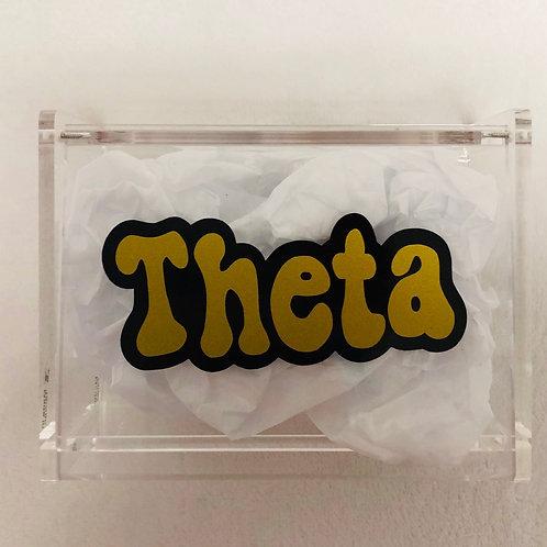 Kappa Alpha Theta Retro Acrylic Box