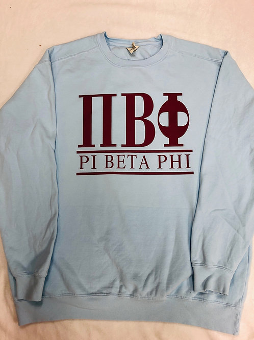 Pi Beta Phi Crew Neck Sweatshirt