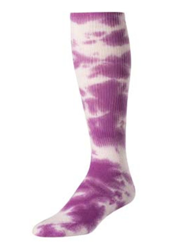 Purple Tie Dye Knee-High Socks