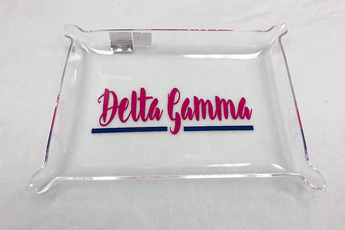 Delta Gamma Acrylic Pinch Tray