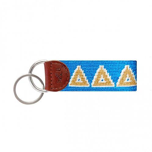 Delta Delta Delta Smathers & Branson Needlepoint Keychain