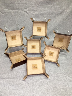 LEATHER SNAP TRAYS