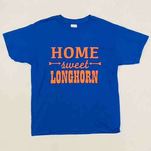 Home Sweet Longhorn Royal One Color Tee