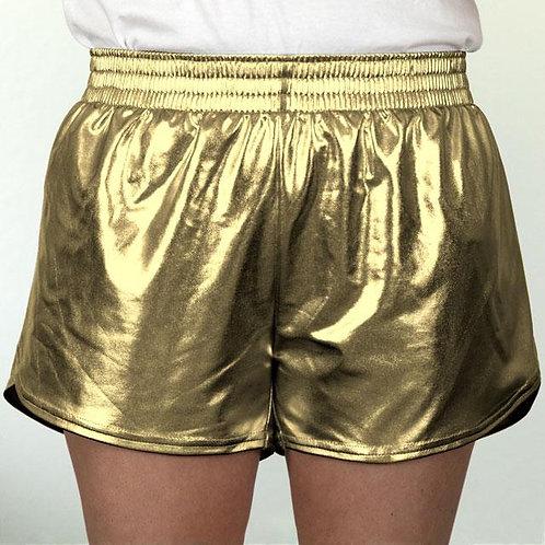 Youth Gold Metallic Summer Shorts
