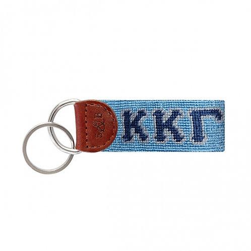 Kappa Kappa Gamma Smathers & Branson Needlepoint Keychain