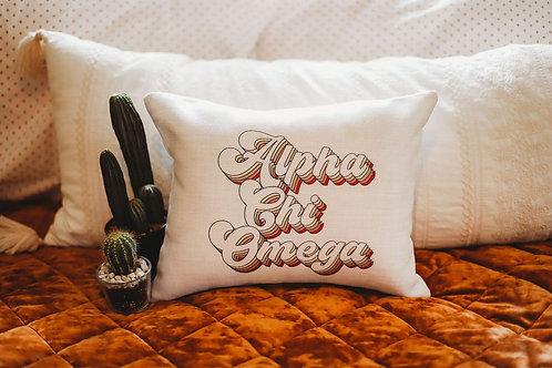 Alpha Chi Omega Retro Pillow