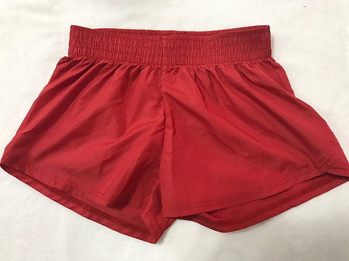 Youth Red Summer Shorts Plain