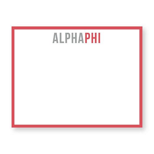 Alpha Phi Notecards - Set of 10