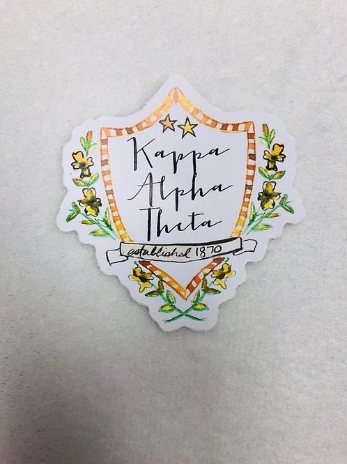 Kappa Alpha Theta Color Sticker