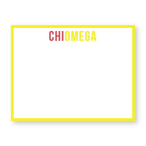 Chi Omega Note Cards