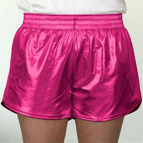 Youth Hot Pink Metallic Summer Shorts