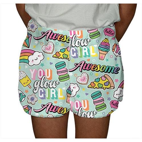 Youth Glow Girl Fuzzy PJ Shorts