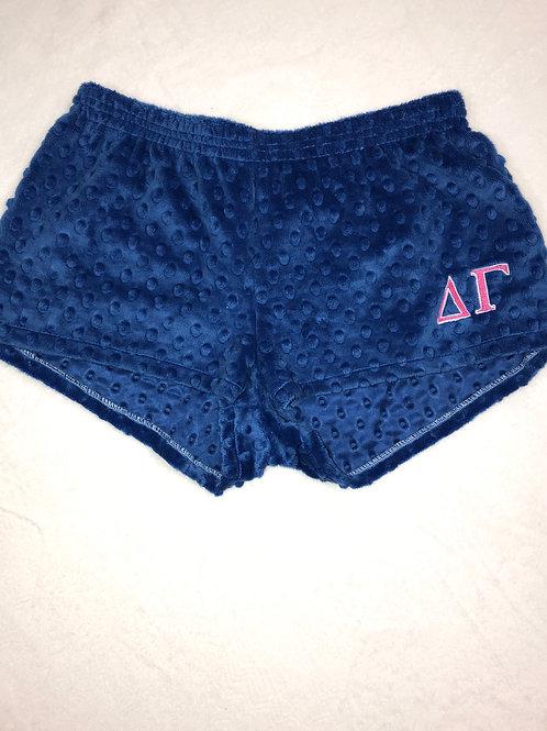 Delta Gamma Blue Minky Dot PJ Shorts