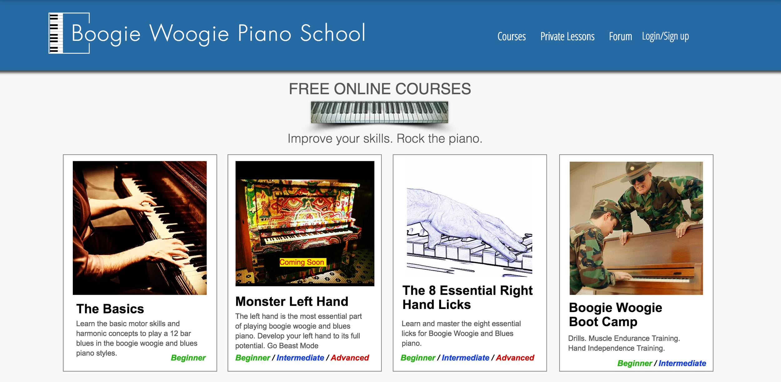 Boogie Woogie Piano School | All Courses