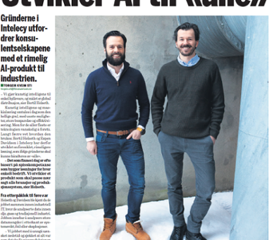 Intelecy in The Norwegian Financial Daily