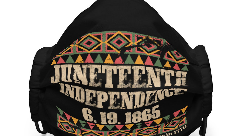 Juneteenth Independence Premium face mask