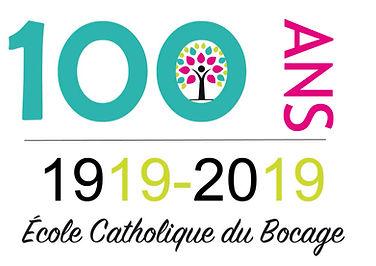 logo Ecole du Bocage 100 ans version mul
