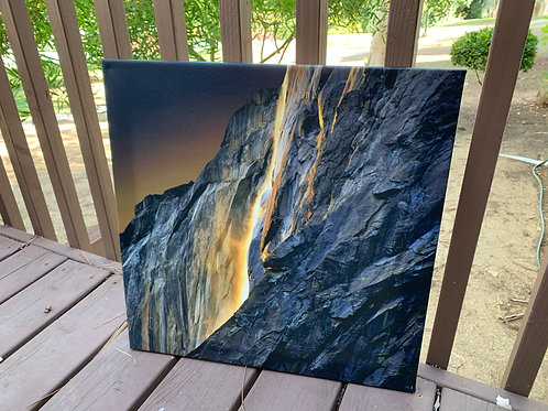 Horsetail Firefall IV | 20x20 Canvas Print