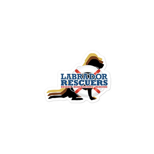 LR Logo bubble-free stickers in 3 sizes