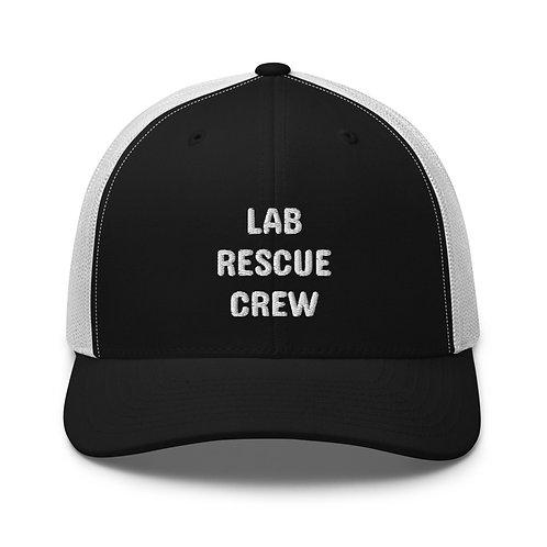 """Lab Rescue Crew"" embroidered on Retro Trucker Hat"