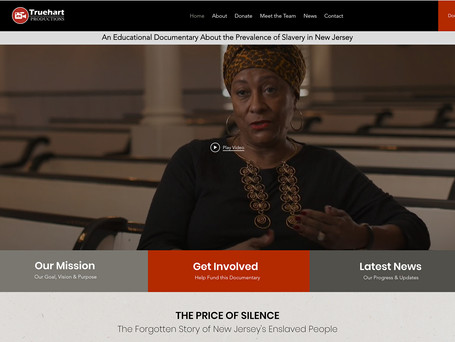 Website Redesign for Truehart Productions | A Documentary About Slavery