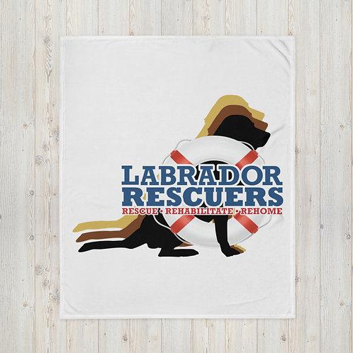Throw Blanket with LR Logo