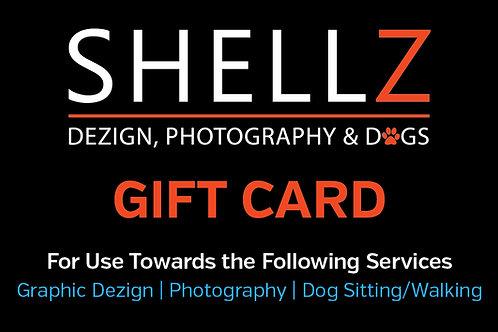 GIFT CARD | Shellz Dezign, Photography & Dogs, LLC