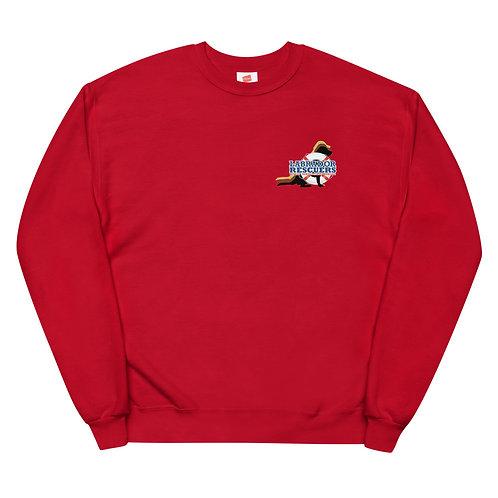 Unisex Fleece Sweatshirt with LR logo on front & large logo on back