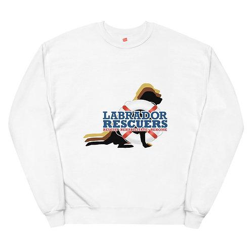 Unisex Fleece Sweatshirt with Large LR logo on front only