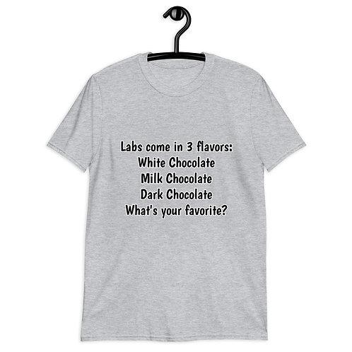 "Unisex Softstyle T-Shirt - ""Lab Flavors"" & LR logo label on back"