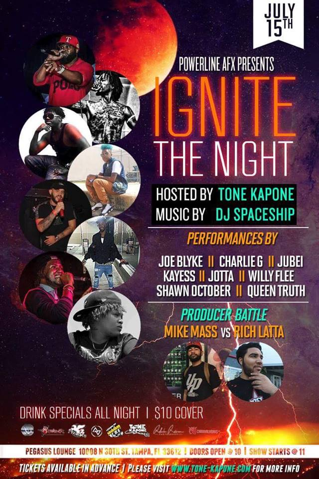 Tone Kapone, Ignite The Night