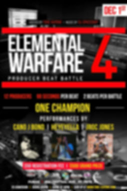 Elemental Warfare, Beat Battle, Tampa, St. Pete, Tampa Bay Hip Hop, Producers, Performances, DJ Spaceship, Jroc Jones, Heyeyella, Cano J Bond, Operation Build The Bay