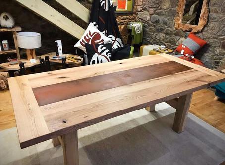 Combining Solid Oak & Steel!