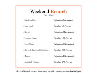 Brunch Schedule