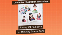 Water Color Session: Character Illustration Workshop by @gabrieldiasagatha