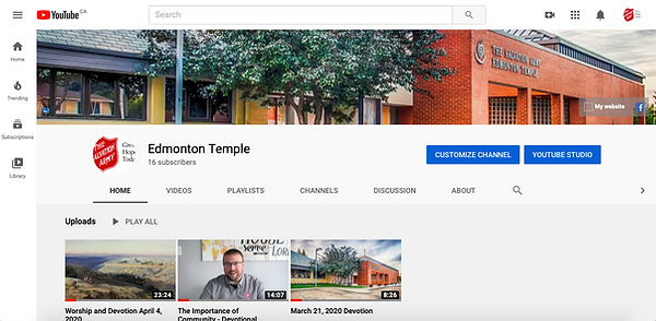 Edmonton Temple YouTube