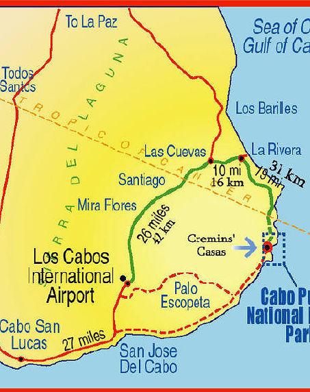 Los Cabos map