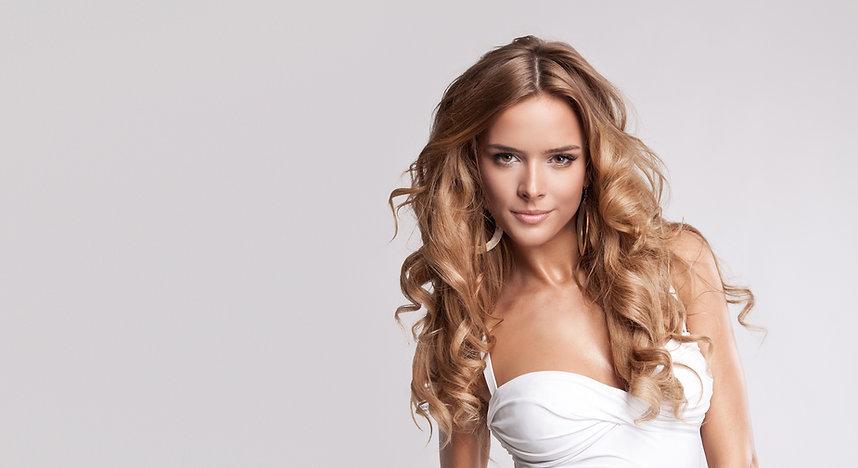 Beautiful women with long hair