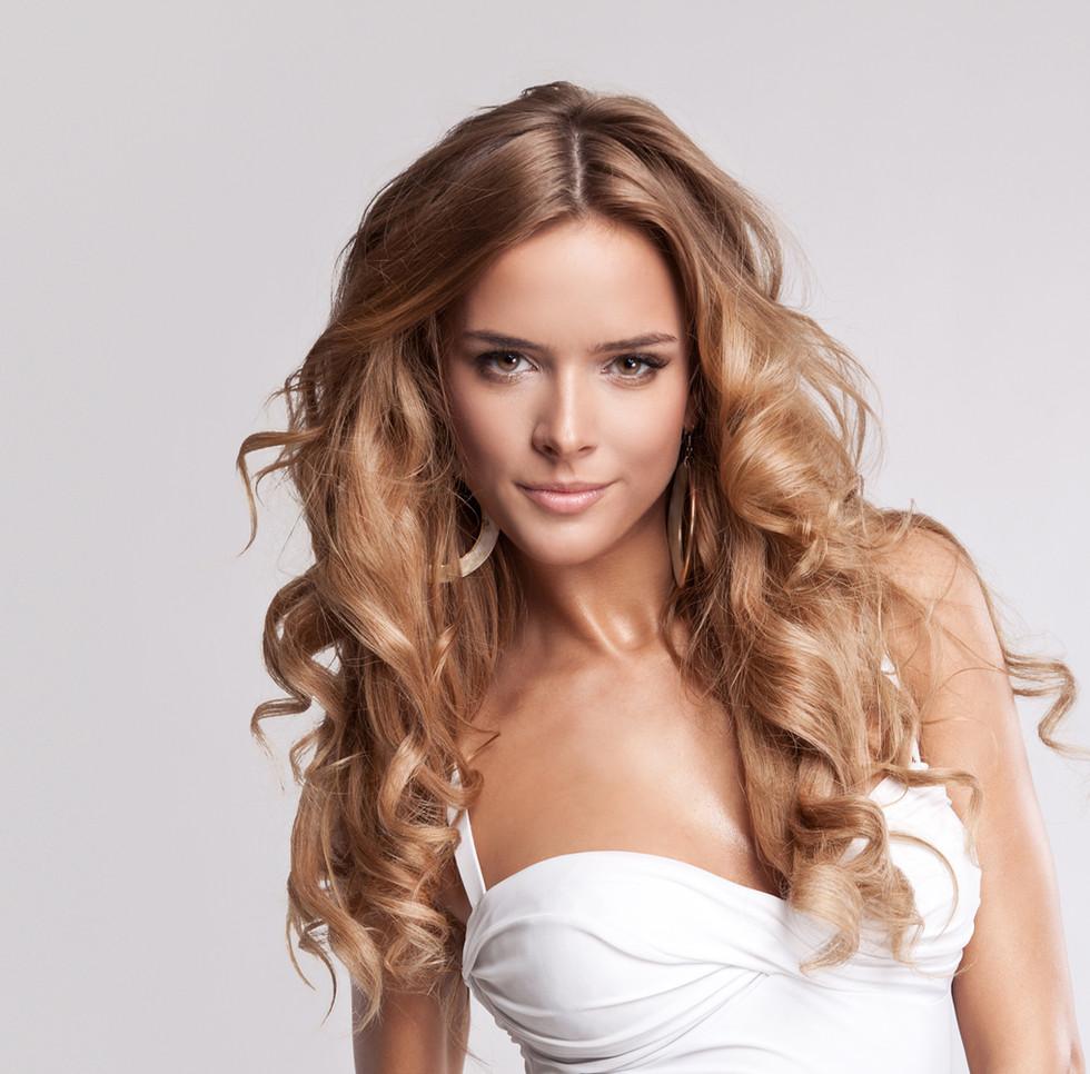 Schönes Haar Modell