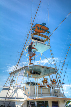 Captain Climbing the Tuna Tower