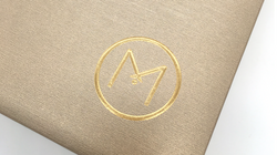 Embossing with gold hot foil