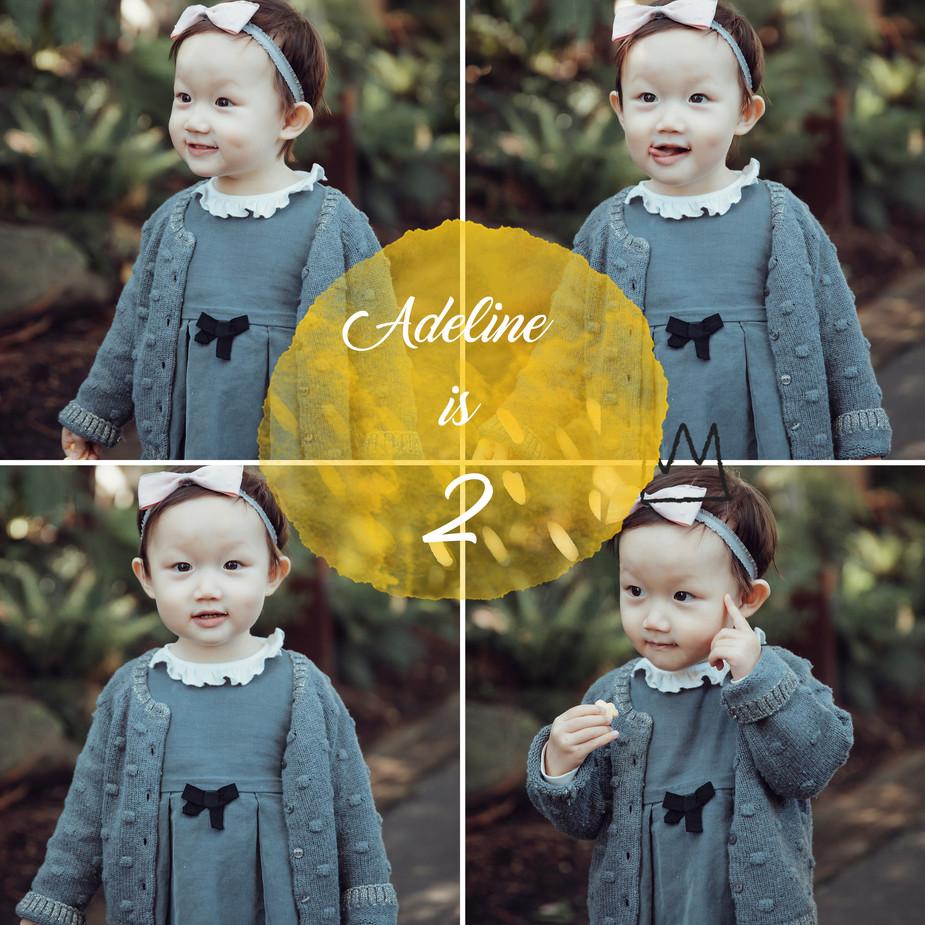 Adeline is 2