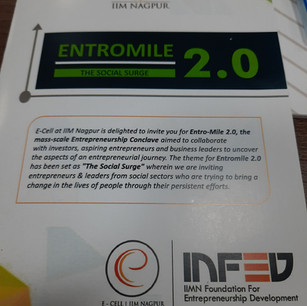 Invited to Entromile by IIM Nagpur