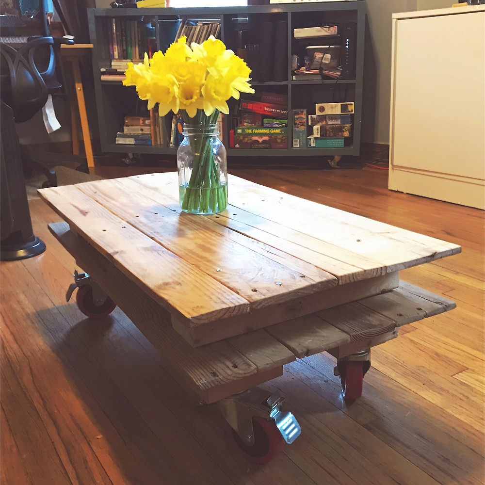 Pallet Wood coffee table for two.