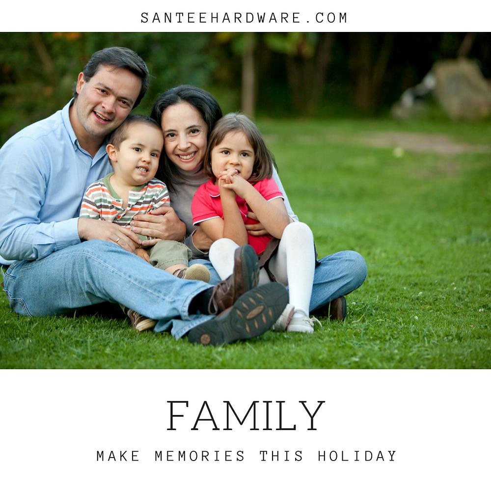 A family making memories on Thanksgiving. #getoutside