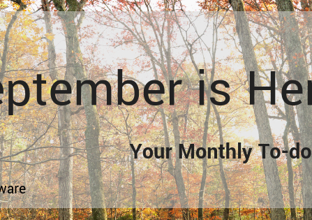 Your September To-Dos